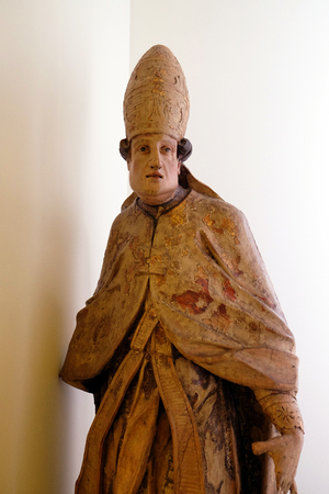 Holy Pope, second half of the 17th century, exhibited in the Museum of Arts and Crafts in Zagreb