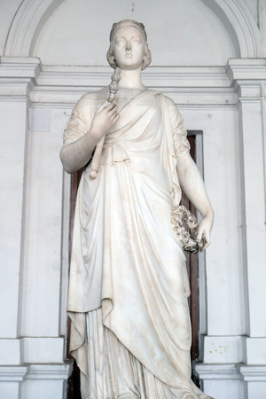 Statue of Queen Victoria, Indian Museum in Kolkata, West Bengal, India