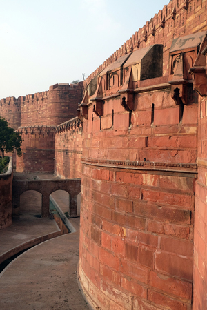 mughal empire: Red Agra Fort in Agra. Uttar Pradesh, UNESCO World heritage site, India Editorial