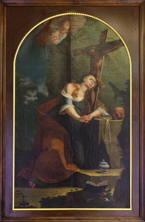 Anton Cebej: St. Mary Magdalene, the year 1770, exhibited in the Museum of Arts and Crafts in Zagreb