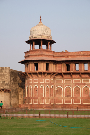 mughal empire: Red Agra Fort in Agra. Uttar Pradesh, UNESCO World heritage site, India.
