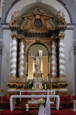 Risen Christ, altar in Franciscan church of the Friars Minor in Dubrovnik, Croatia