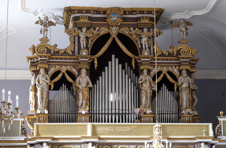The organ in the Franciscan church in Dubrovnik Editorial