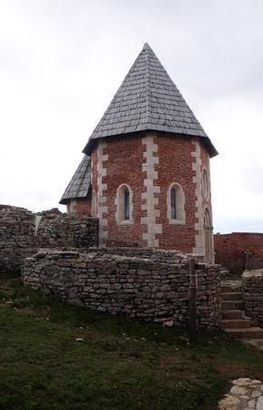 Chapel of St. Philip, Medvedgrad castle in Nature Park Medvednica in Zagreb, Croatia