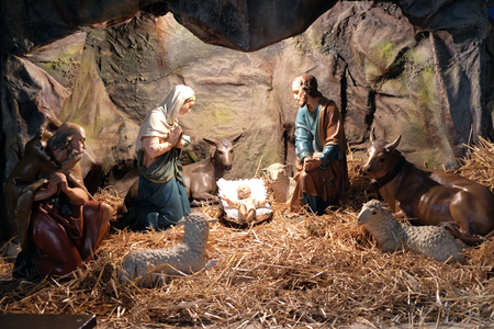 Nativity Scene, Christmas creches in the Basilica of the Sacred Heart in Zagreb
