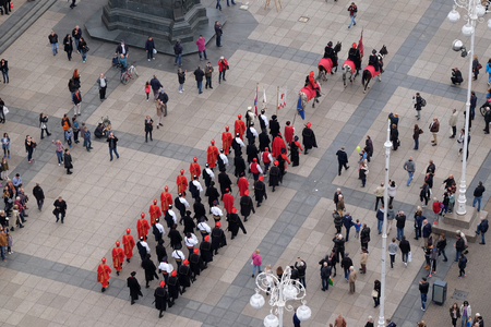 Changing of the guard honorary Cravat Regiment on October 16, 2016.