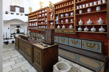 DUBROVNIK, CROATIA - NOVEMBER 08: The third oldest pharmacy in the world in Franciscan monastery in Dubrovnik, November 08, 2016. Editorial
