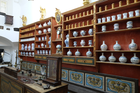 The third oldest pharmacy in the world in Franciscan monastery in Dubrovnik Stock Photo