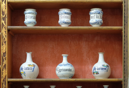 The third oldest pharmacy in the world in Franciscan monastery in Dubrovnik Editorial