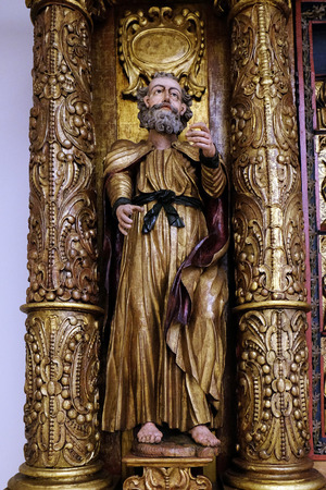 Saint Peter, 15th century, from the church of the Queen of the Holy Rosary in Rrmetinec exhibited in the Museum of Arts and Crafts in Zagreb