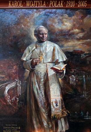 St. John Paul II by Natalia Tsarkova in Church of Santa Maria del Popolo, Rome, Italy