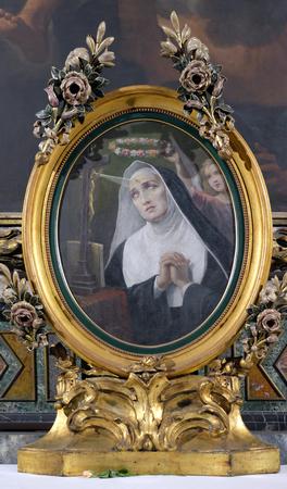 Saint Rita of Cascia in Chapel of St Michael the Archangel, Basilica di Sant Andrea delle Fratte, Rome, Italy Editorial