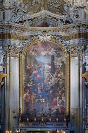 Martyrdoms of the Apostles Philip and James the Less by Domenico Maria Muratori, altarpiece in church dei Santi XII Apostoli in Rome, Italy Editorial