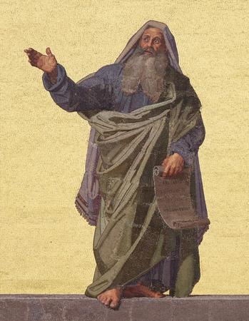 Prophet Jeremiah, facade of Basilica of Saint Paul outside the walls, Rome, Italy