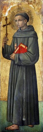 Antonio Vivarini: Saint Francis of Assisi, Altarpiece in Euphrasian Basilica in Porec, Croatia