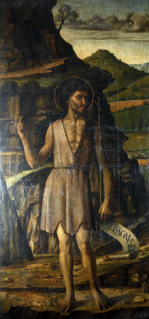 Gentile Bellini: Saint John the Baptist, Altarpiece in Cathedral of Saint Lawrence in Trogir, Croatia