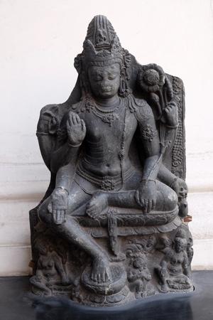 Six armed Avalokitesvara, from 10th century found in Nalanda, Bihar now exposed in the Indian Museum in Kolkata, West Bengal, India