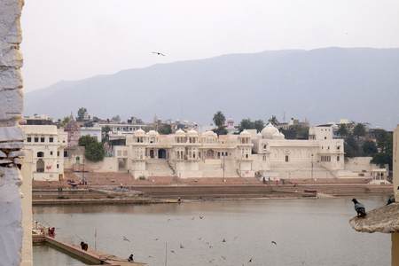 Pushkar lake or Pushkar Sarovar at Pushkar, India, Holy Hindu City