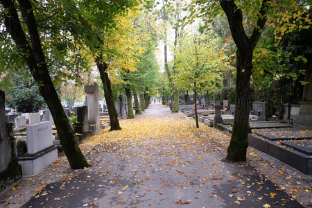 The Mirogoj cemetery is a cemetery park, one of the most notable sites of Zagreb, Croatia Stock Photo
