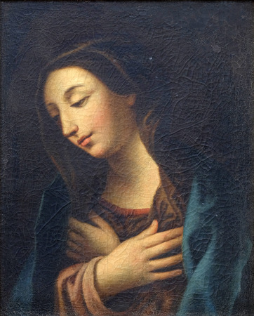 Our Lady painting in the convent of the Friars Minor in Dubrovnik