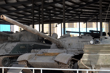 Tanks in the Military Museum of the Chinese People's Revolution in Beijing, China