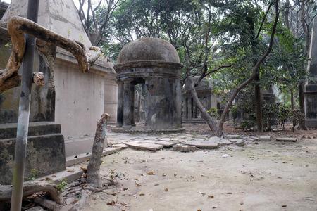 Kolkata Park Street Cemetery, inaugurated 1767 in Kolkata, India.