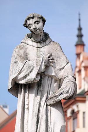 Saint Anthony of Padua statue, Plague column at Main Square of the city of Maribor in Slovenia Banco de Imagens