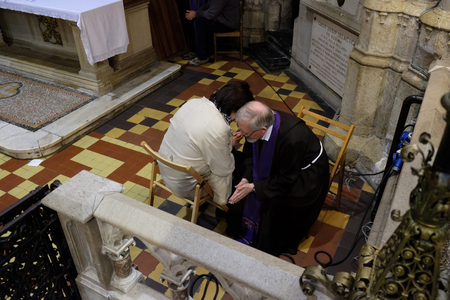 Confession in the Zagreb Cathedral