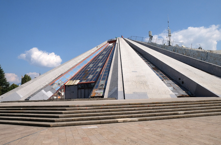 Pyramide in the center of Tirana, formerly an Enver Hoxha Museum, Tirana, Albania.