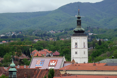 Church of St Mark, famous building monuments in Zagreb, Croatia