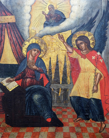 Annunciation, Italo Cretan School, 16th century, convent of the Friars Minor in Dubrovnik