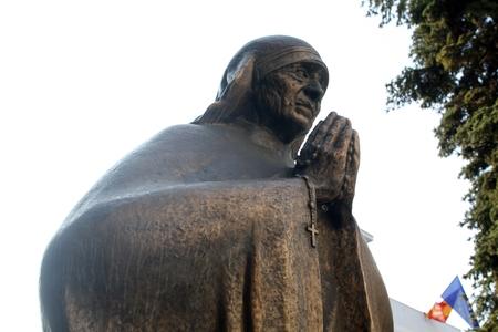 Statue of Mother Teresa, Skopje, Macedonia Stock Photo