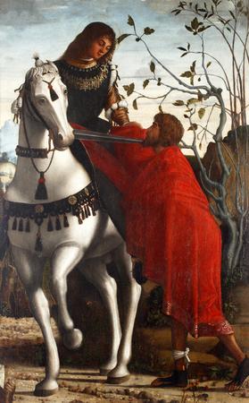 Vittore Carpaccio: St. Martin, Altarpiece, permanent exhibition of church art in Zadar, Croatia Standard-Bild