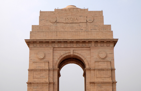 The India gate in Delhi, India. The India gate is the national monument of India.