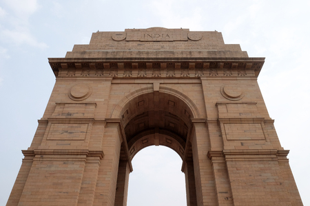 The India gate, Delhi, India. The India gate is the national monument of India.