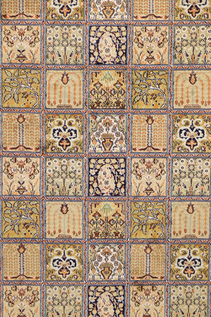 Carpet from wool and silk of classical design, Delhi, India