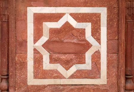 Architecture detail inside the Humayun's Tomb, built by Hamida Banu Begun in 1565-72, Delhi, India 版權商用圖片