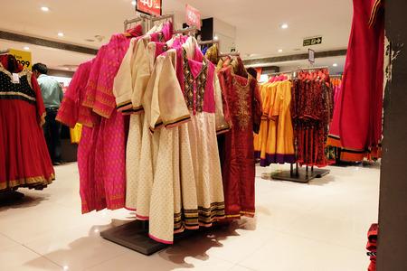Indian garment shop in New Market area, Kolkata, India
