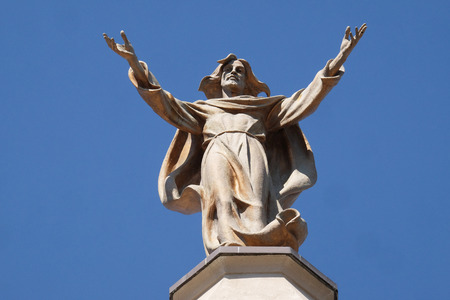 Jesus Christ Savior and Redeemer of the World, St Stephen's Cathedral in Shkoder, Albania Standard-Bild