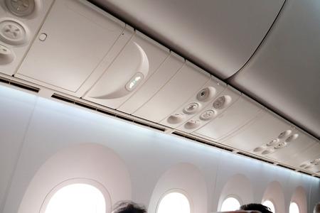 Airplane interior Фото со стока