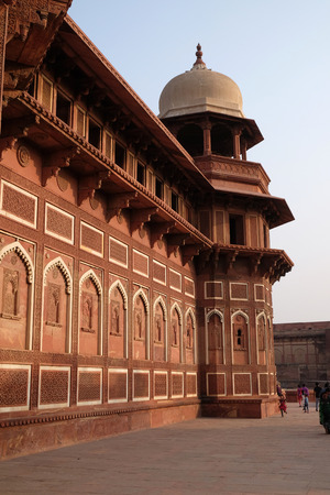 Red Fort in Agra. Uttar Pradesh, UNESCO World heritage site, India Editorial