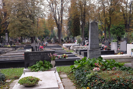 The Mirogoj cemetery is a cemetery park, one of the most notable sites of Zagreb, Croatia Редакционное