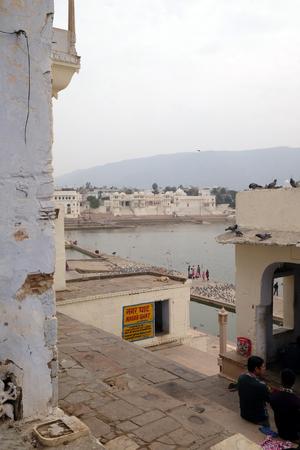 Pushkar lake or Pushkar Sarovar at Pushkar, Rajasthan, India, Holy Hindu City Reklamní fotografie