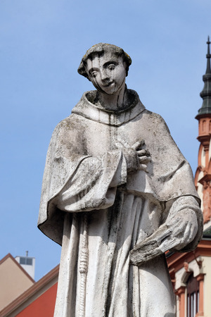 Saint Anthony of Padua statue, Plague column at Main Square of the city of Maribor in Slovenia Imagens