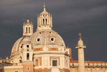Church of the Most Holy Name of Mary (Chiesa del Santissimo Nome di Maria al Foro Traiano) at the Trajan Forum - Roman Catholic church in Rome, Italy