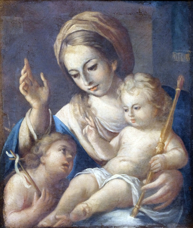 Madonna with Child and Saint John the Baptist, Franciscan church of the Friars Minor in Dubrovnik, Croatia