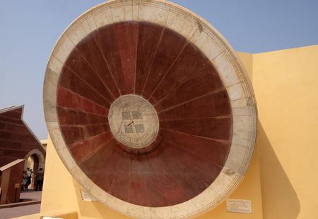 Narivalaya Yantra, Sundial in Jantar Mantar, ancient observatory. Jaipur, Rajasthan, India Stock Photo