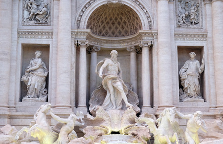 Trevi Fountain in Rome. Fontana di Trevi is one of the most famous landmark in Rome, Italy Banque d'images