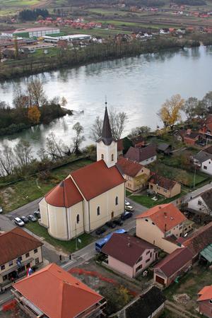 Parish Church of Holy Trinity in Hrvatska Dubica, Croatia