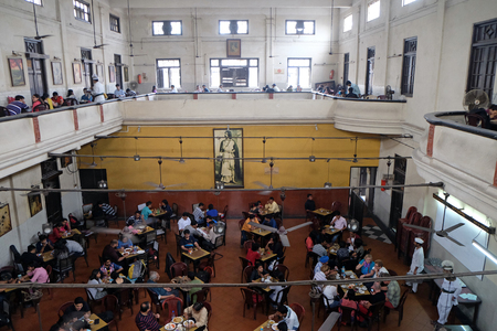 Visitors of popular Indian Coffee House have lunch in Kolkata on February 11, 2016. The India Coffee House chain was started by the Coffee Cess Committee in 1936 in Bombay